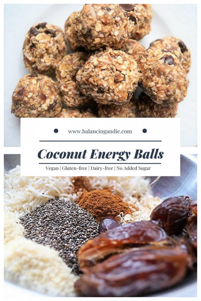Coconut Energy Balls (Vegan, Gluten-free, Dairy-free, Egg-free snacks!)