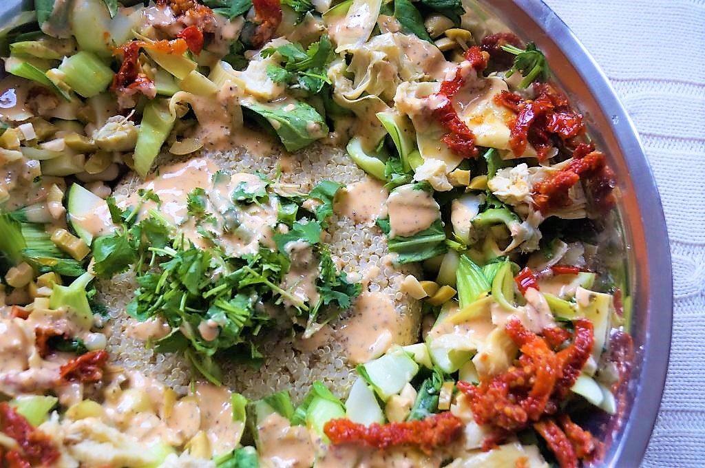 Vegan Mediterranean Quinoa Salad Balancing Andie