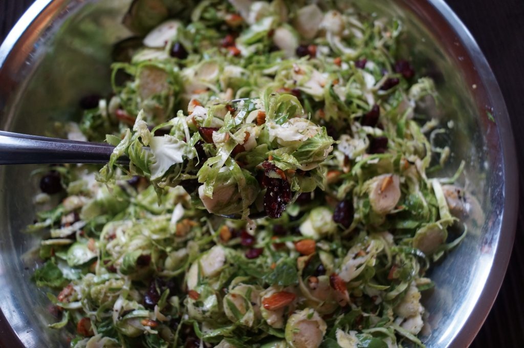 Easy Peezy Shaved Brussel Sprout Salad