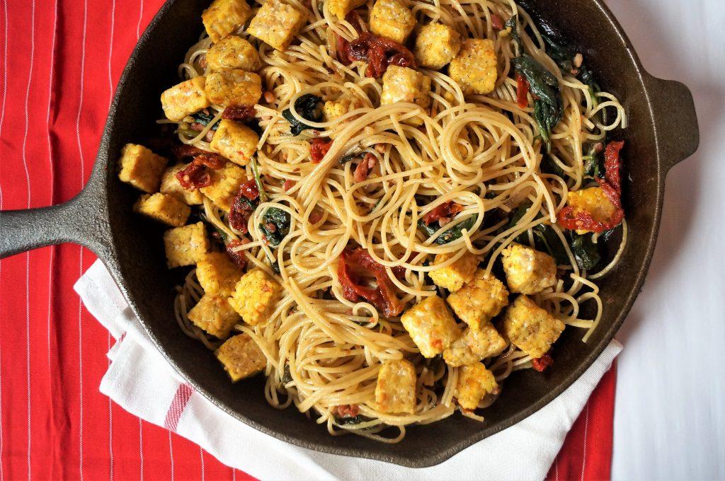 Meatless Monday: Lemon Tempeh Noodles