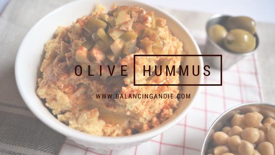 Olive Hummus (without tahini)