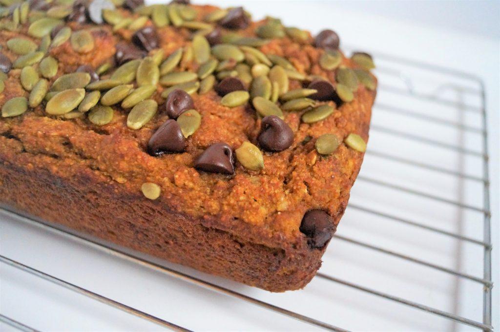 Healthy Pumpkin Seed Breakfast Bread