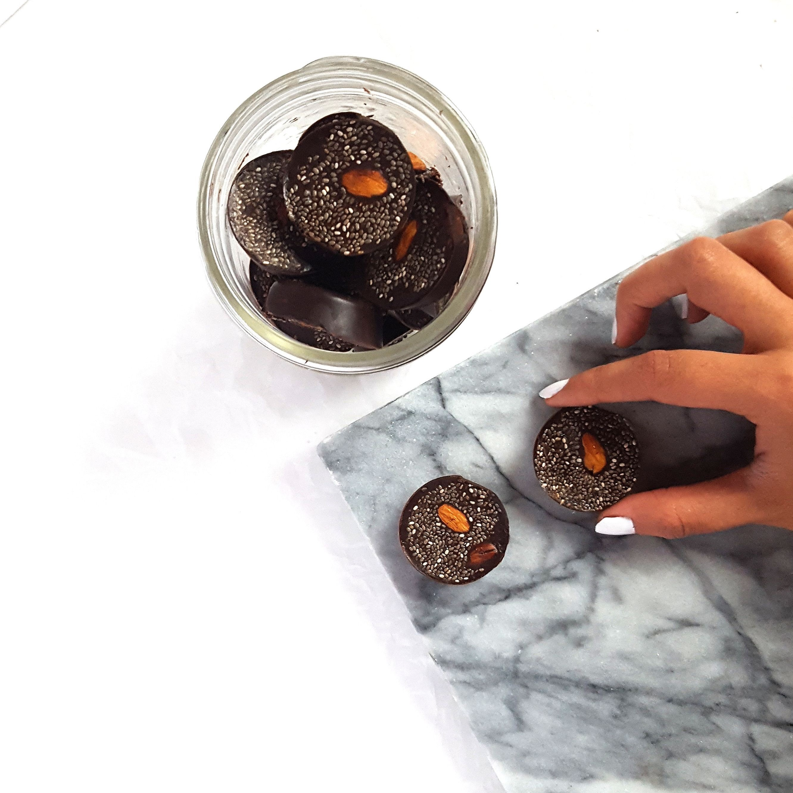 "Dark Chocolate Almond ""Coins"""