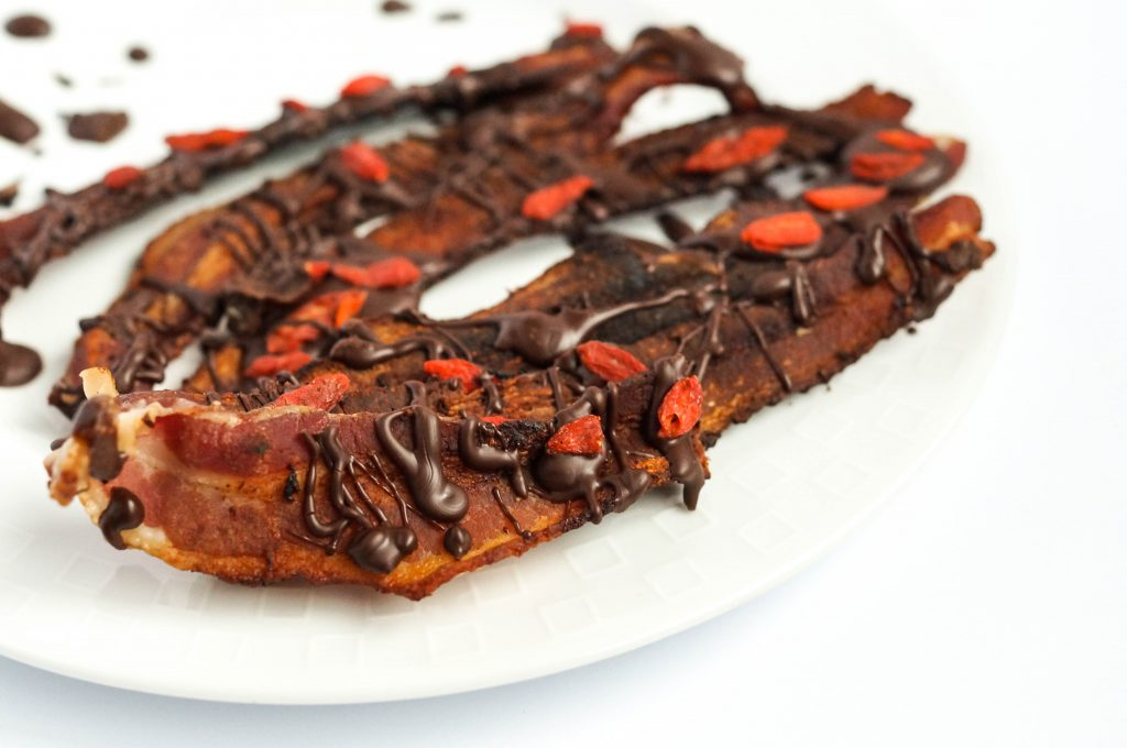 Chocolate Goji Bacon Strips