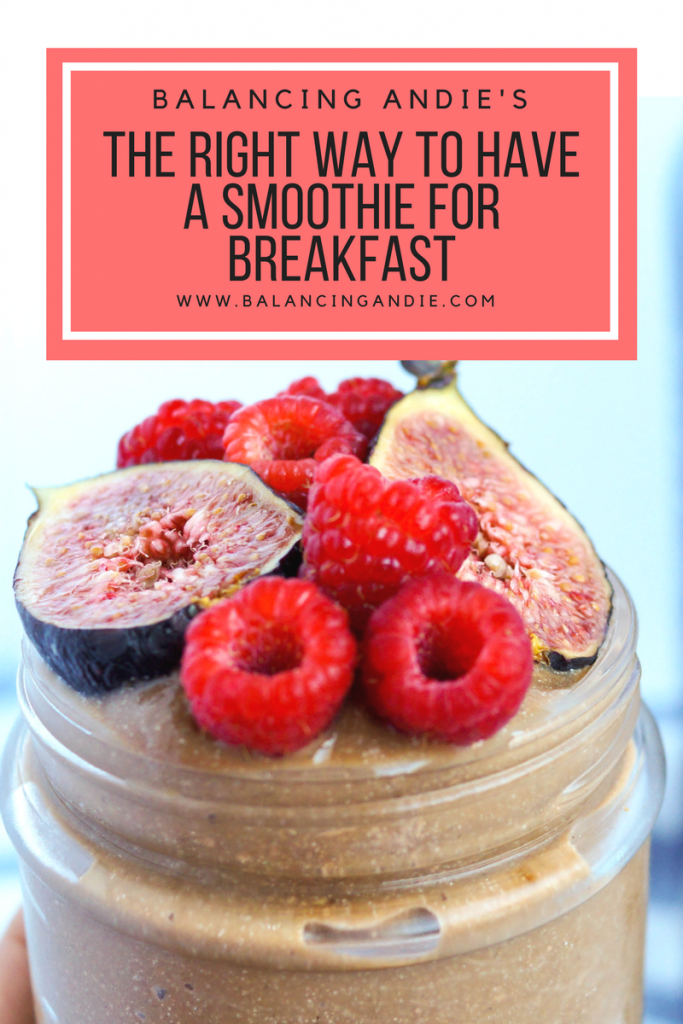 How to Make Your Breakfast Smoothie Last Until Lunch. Vegan, Gluten-free, Non-GMO and full of Protein, Fat and Fiber.
