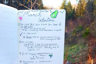 Writing Monthly Intentions is such a powerful mindfulness exercise