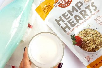 Dairy-free hemp seed milk is a great vegan alternative to regular cow's dairy. It's even more superior because you don't need to strain or soak the seeds!