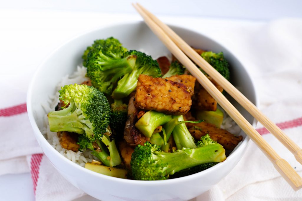 "Vegan Tempeh ""Beef"" and Broccoli Stir Fry (Dairy-free, Gluten-free, Vegan)"