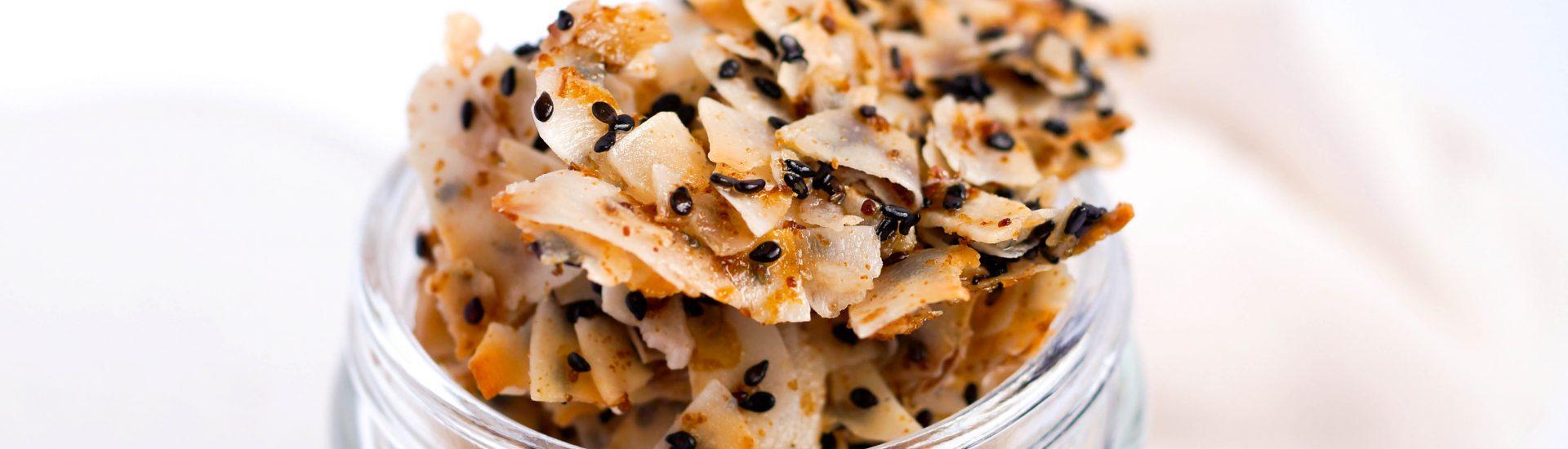 Toasted Sesame Coconut Clusters (Vegan & Gluten-free, Paleo)