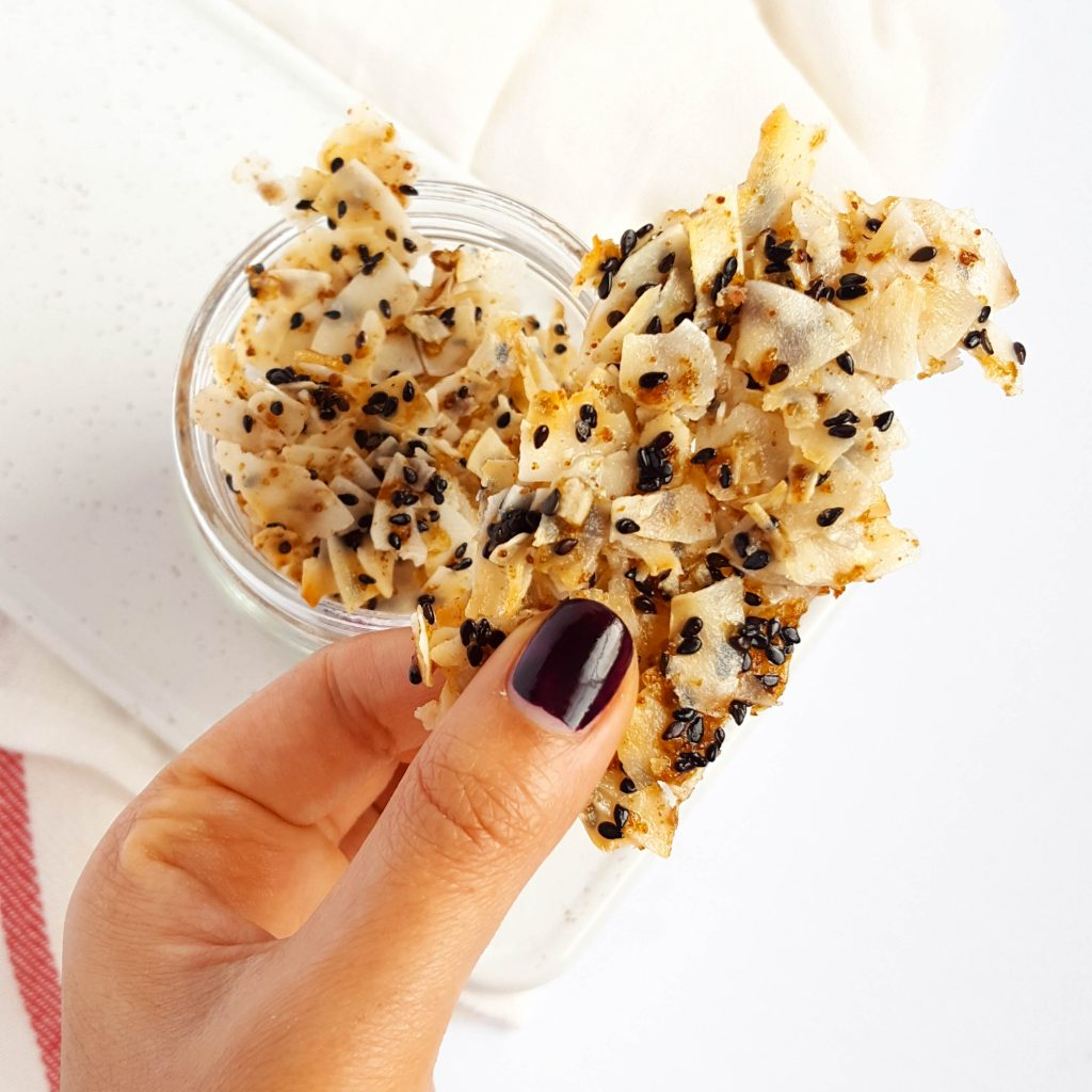 Toasted Sesame Coconut Clusters (Vegan & Gluten-free, Paleo)