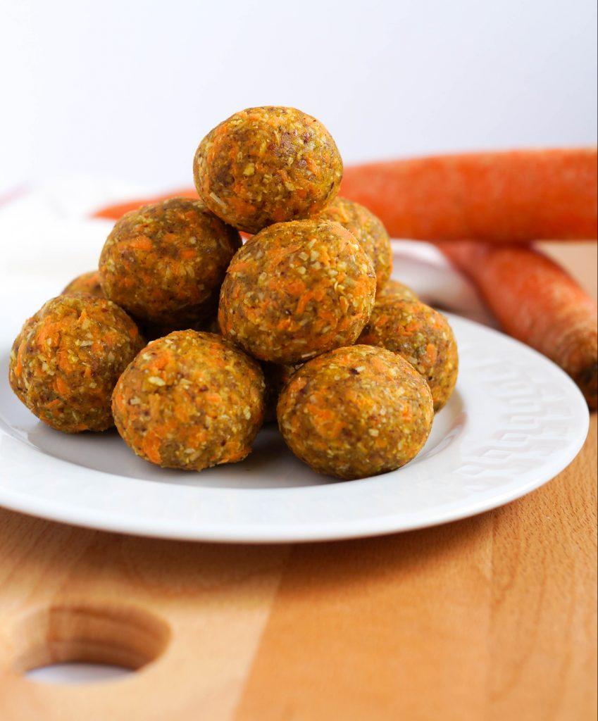 Carrot Cake Energy Bites (Gluten-free, Dairy-free, Vegan, Oat-free)
