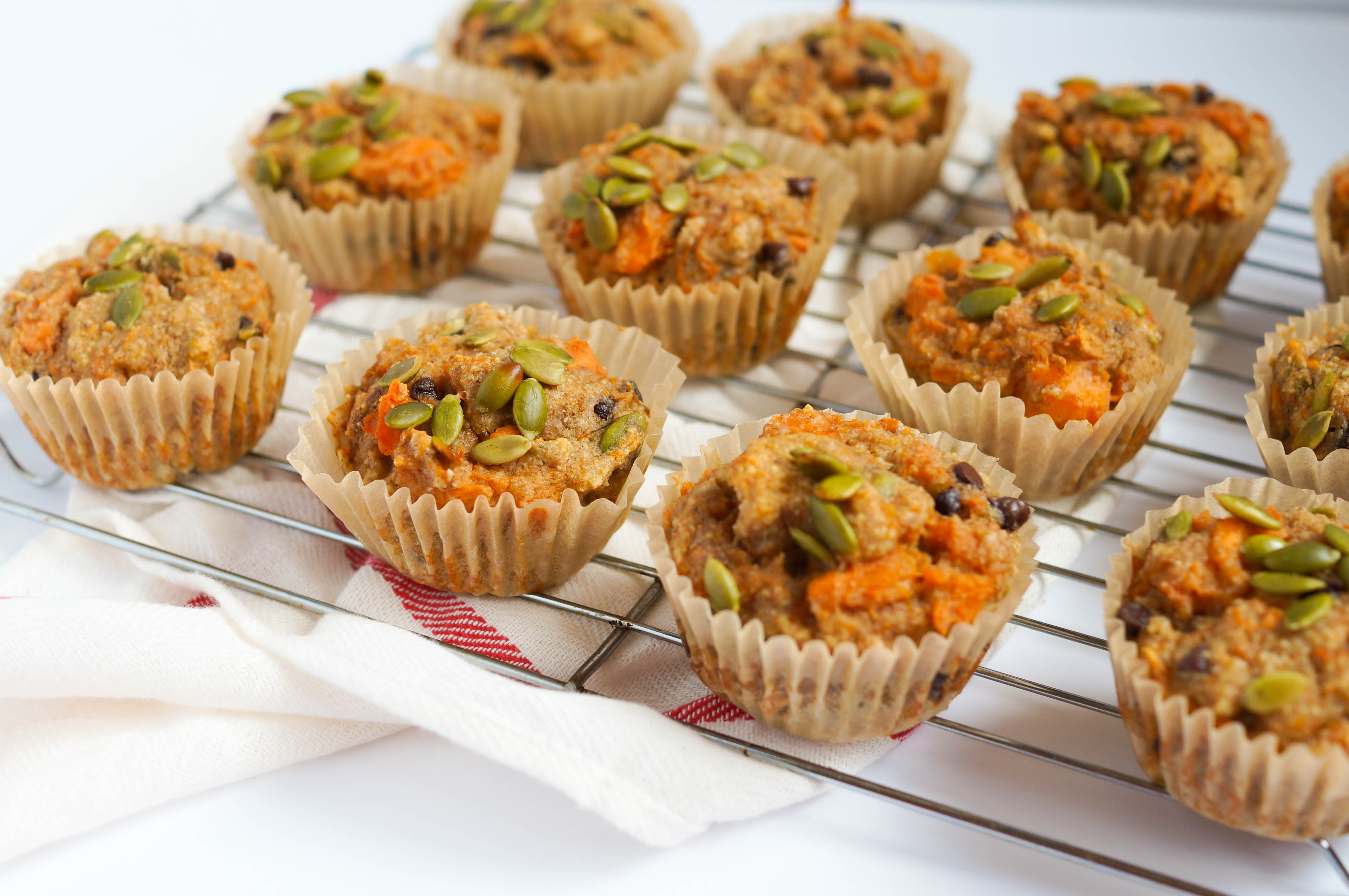Healthy Sweet Potato Breakfast Muffins Dairy Free Balancing Andie