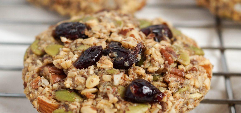 Trail Mix Cookies (Dairy-free, Vegan-friendly, Gluten-free)