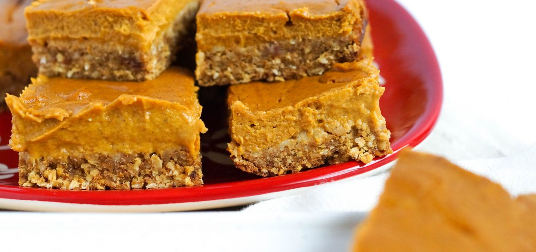 Vegan Pumpkin Pie Oatmeal Squares (dairy-free, gluten-free, refined sugar free)