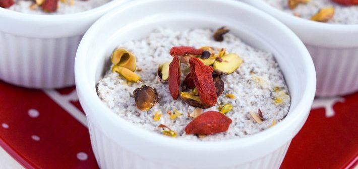 Vegan Coconut Cardamon Chia Pudding (Gluten-free, refined sugar free, dairy-free, grain free, whole 30 friendly)