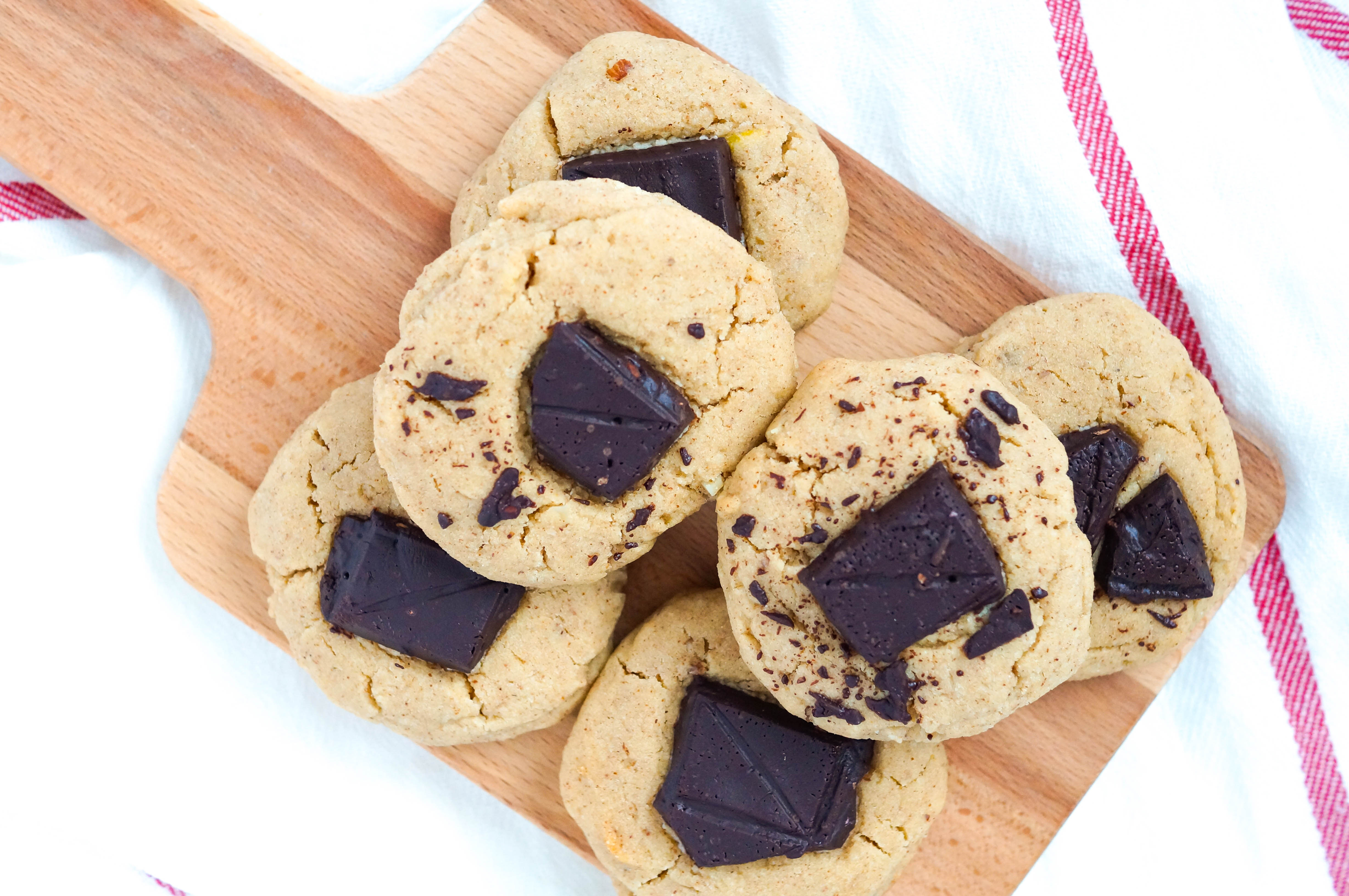 Chocolate Chunk Thumbprint Cookies