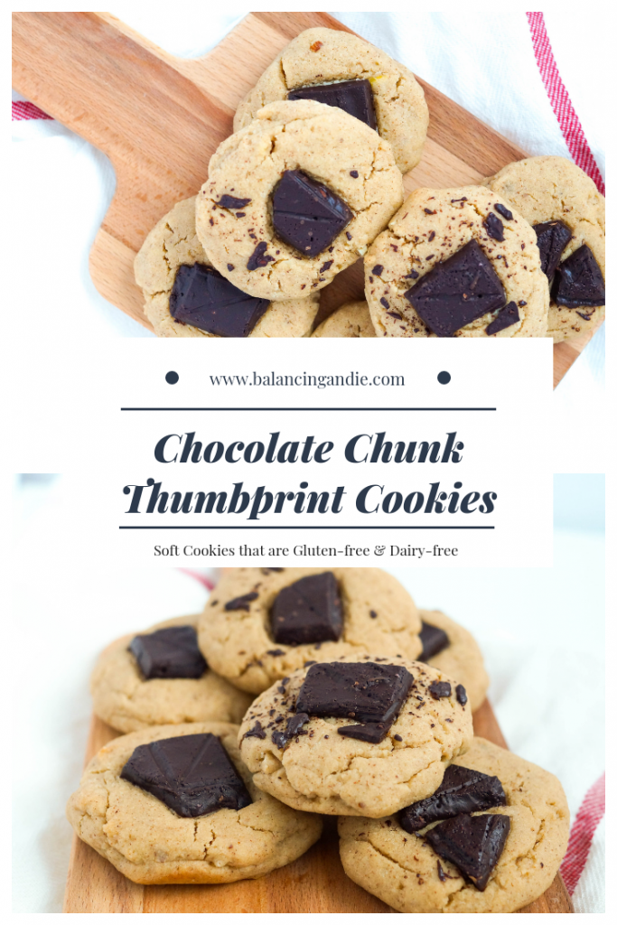 Gluten-free Chocolate Thumbprint Cookies
