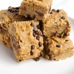 Vegan Grain Free Chickpea Blondies that are dairy-free, grain-free, gluten-free, vegan & have no refined sugar either!