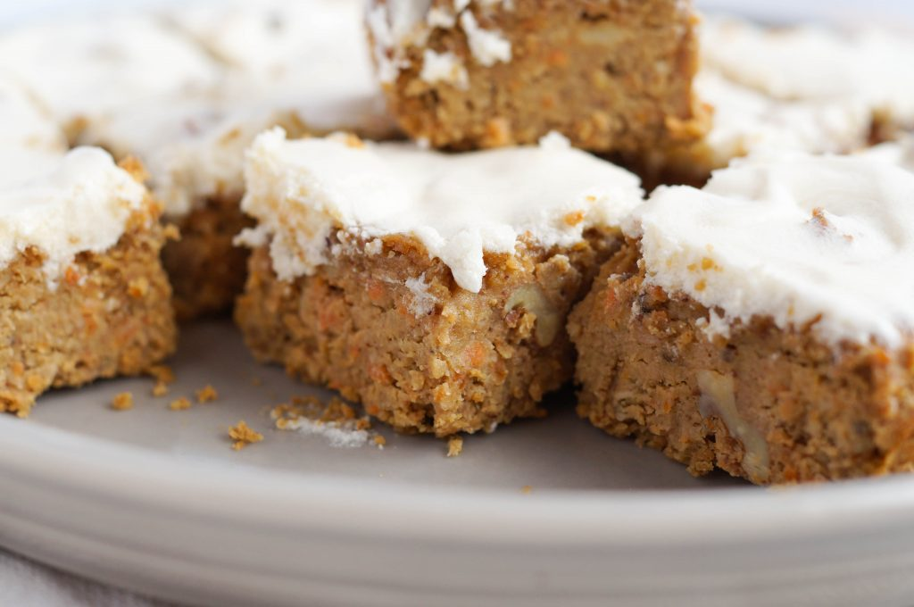 Vegan Grain Free Carrot Cake Blondies (Grain-free, Vegan, Dairy-free, Egg free)
