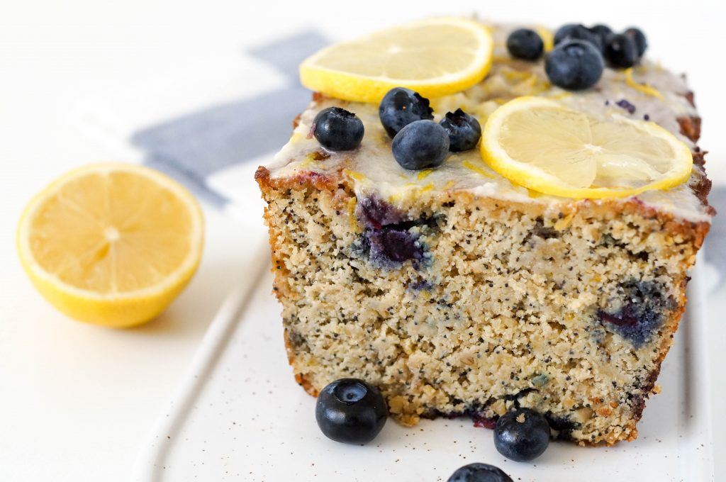 Gluten Free Blueberry Lemon Poppy Seed Loaf