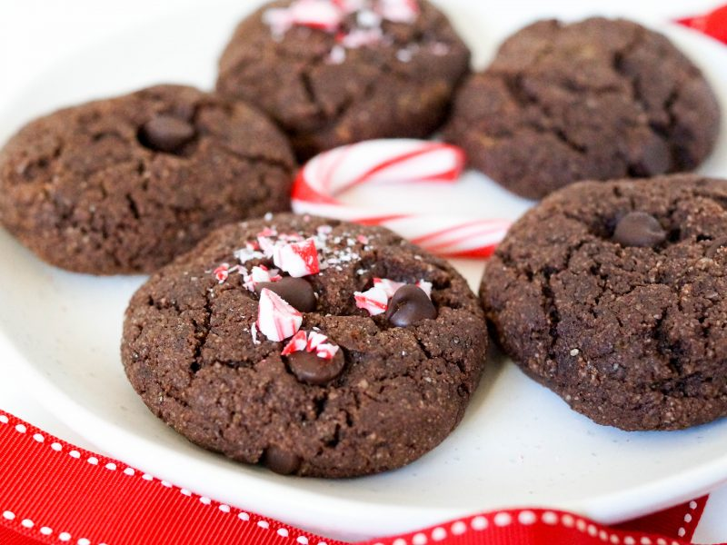 Grain Free Double Chocolate Peppermint Cookies