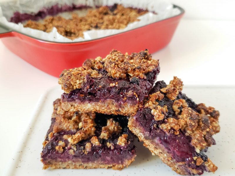 Berry Crumble Oatmeal Breakfast Bars (Ve & GF)