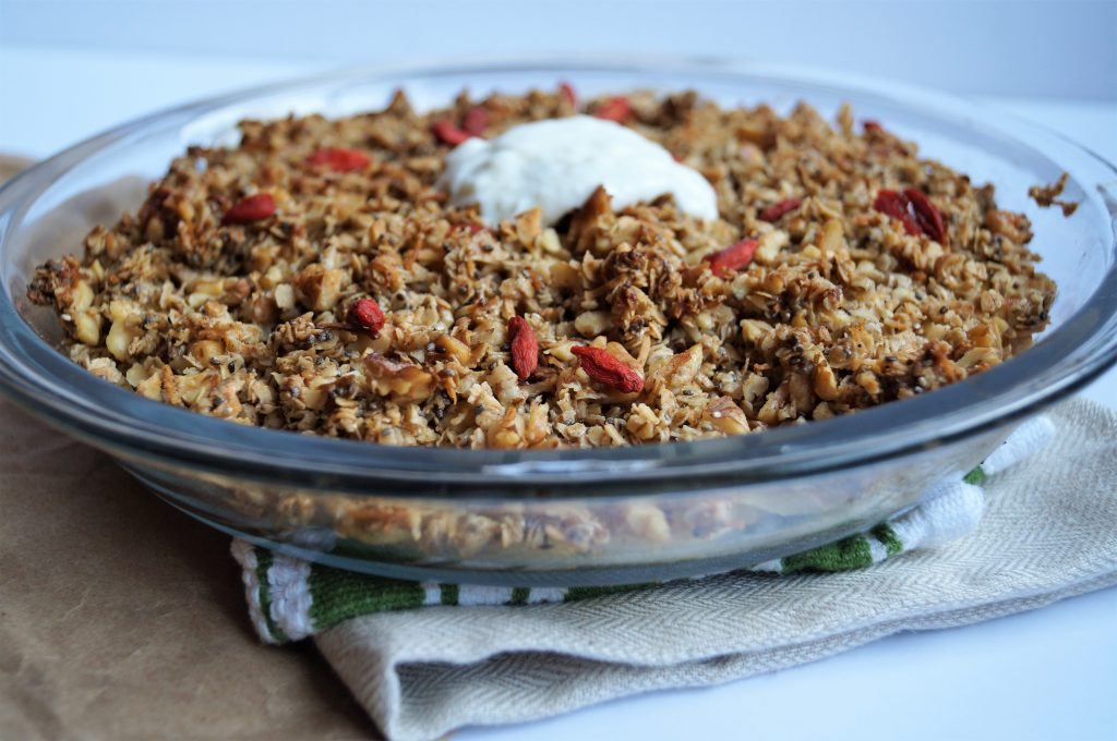 Vegan Breakfast Apple Crumble
