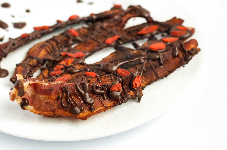 Chocolate Goji Bacon Strips