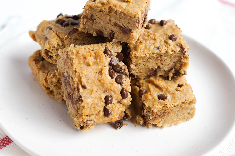 Vegan Grain Free Chickpea Blondies that are dairy-free, grain-free, gluten-free, vegan & have no refined sugar either!