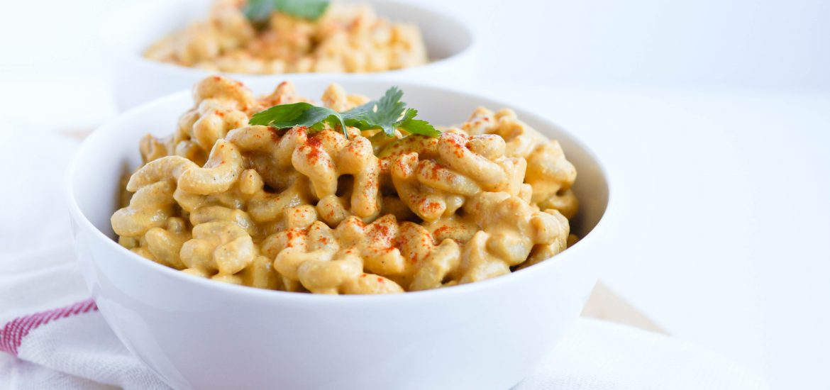 Vegan Macaroni and Cheese that is SO creamy that you won't even miss the cheese in this pasta recipe at all! Gluten-free friendly with a pasta swap.