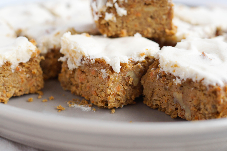 Vegan Grain Free Carrot Cake Blondies (Grain-free, Vegan, Dairy-free, Egg free)