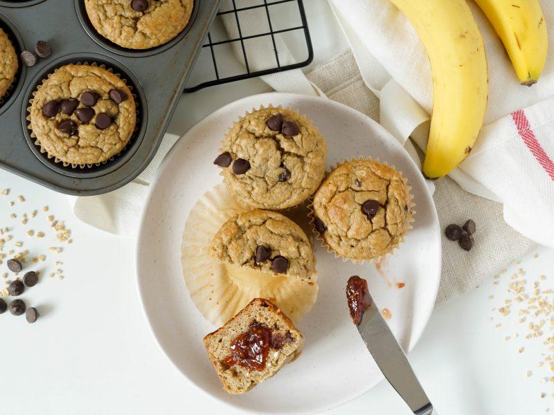 Banana Oat Blender Breakfast Muffins (GF)