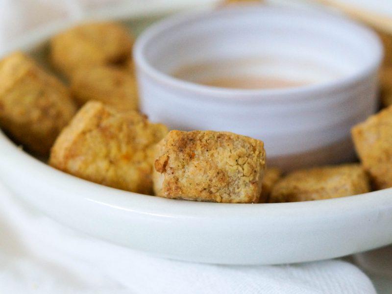 High Protein Air Fryer Tofu (Cornstarch Free, VE & GF)